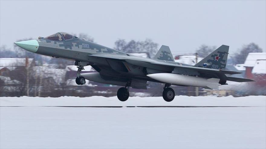 Caza de quinta generación ruso Su-57.
