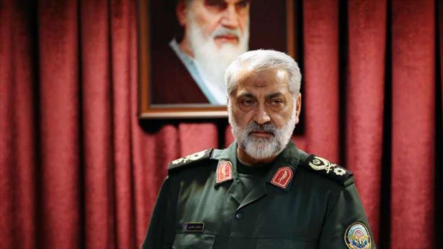 El general de brigada Abolfazl Shekarchi, un alto portavoz de las Fuerzas Armadas de Irán.