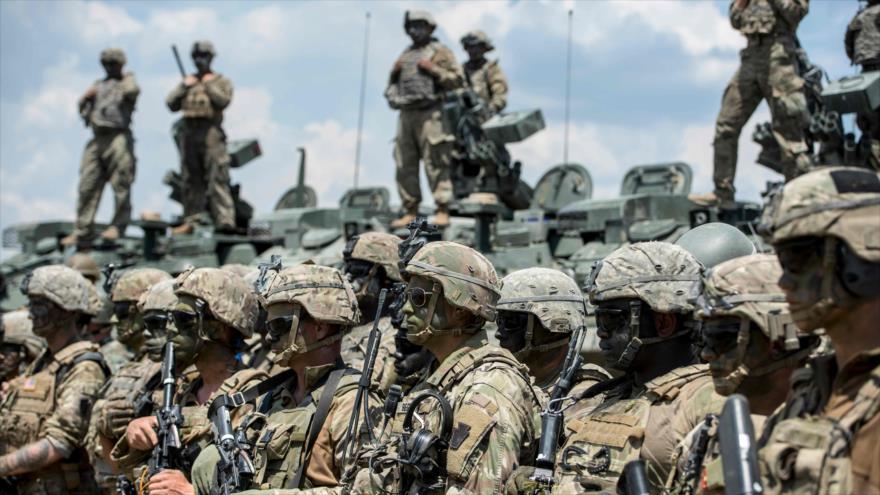 Soldados estadounidenses participan en una maniobra llamada Decisive Strike, Macedonia del Norte, 17 de junio de 2019. (Foto: AFP)