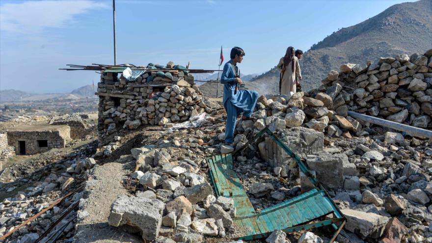 Casas destruidas debido a la guerra en la provincia de Nangarhar, en Afganistán, 25 de noviembre de 2019. (Foto: AFP)