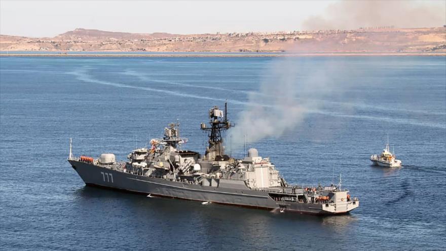 Irán-Rusia-China continúan maniobras en norte de océano Índico