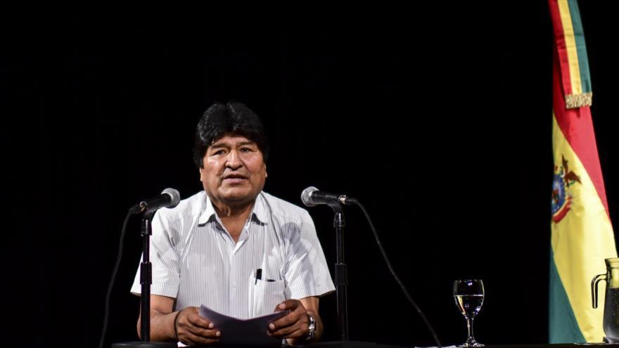 El depuesto presidente de Bolivia, Evo Morales, durante una conferencia de prensa en Buenos Aires, Argentina, 19 de diciembre de 2019. (Foto: AFP)