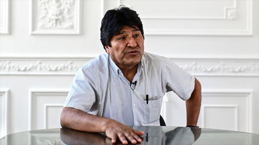 El depuesto presidente boliviano, Evo Morales, en una entrevista en Buenos Aires, capital argentina, 24 de diciembre de 2019. (Foto: AFP)