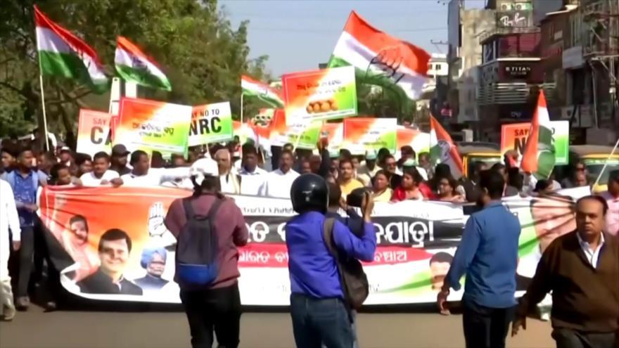 Oposición india se une a manifestaciones contra ley de ciudadanía   HISPANTV