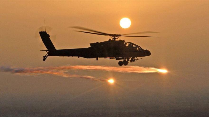 Vídeo: Helicópteros de EEUU intimidan a manifestantes iraquíes   HISPANTV