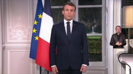 Mensaje de Navidad de Macron echa más leña al fuego de protestas