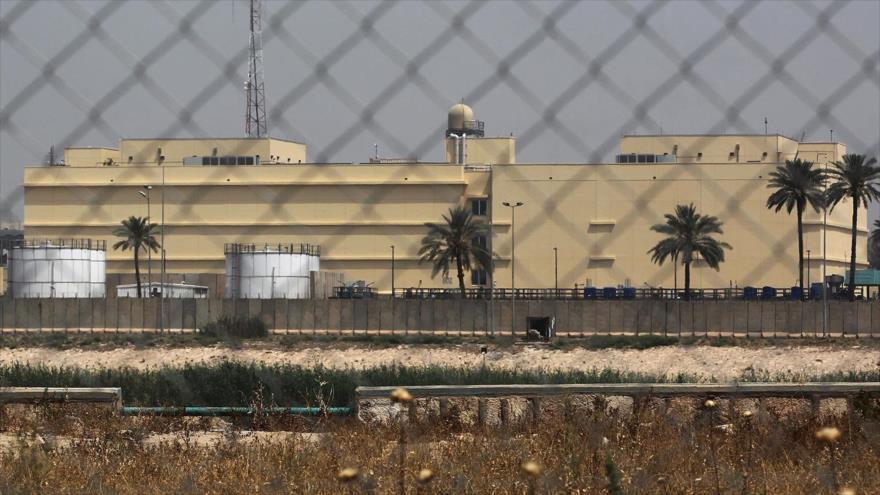 La embajada de EE.UU. en la 'Zona Verde' en el centro de Bagdad, capital de Irak.