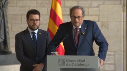 Torra arremete contra ERC por pactar con el PSOE a sus espaldas