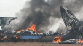 Accidente de avión militar en Sudán deja al menos 18 muertos