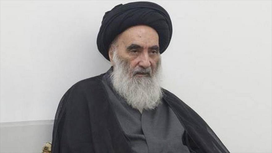 El máximo clérigo chií de Irak, el ayatolá Seyed Ali Sistani.