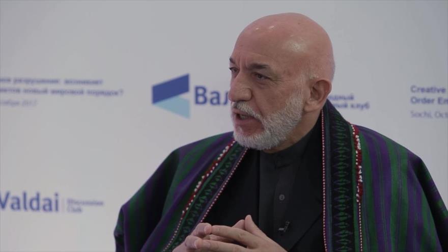 El expresidente afgano Hamid Karzai.