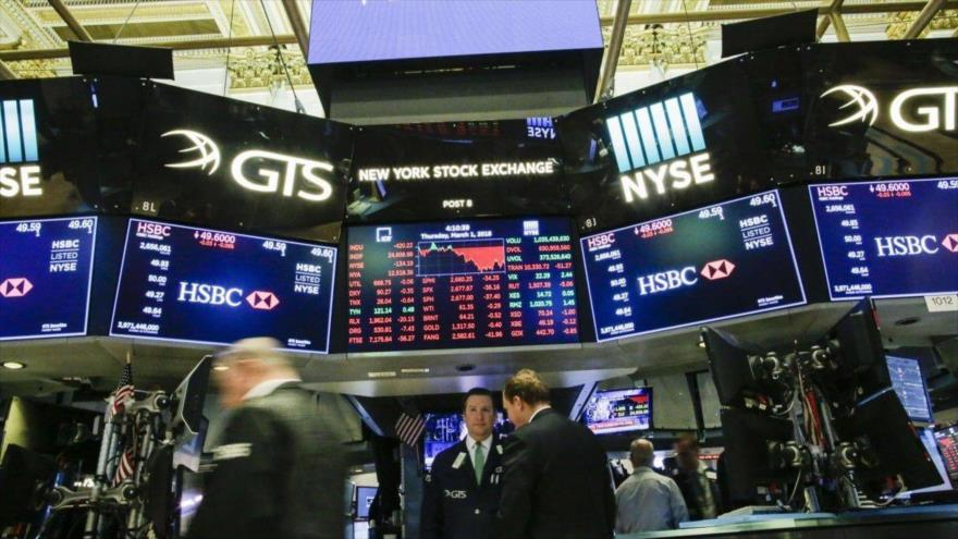 La sala principal de la Bolsa de Valores de Nueva York, Wall Street, en EE.UU.