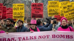 Ataque en Irak desata masivas protestas en varias ciudades de EEUU