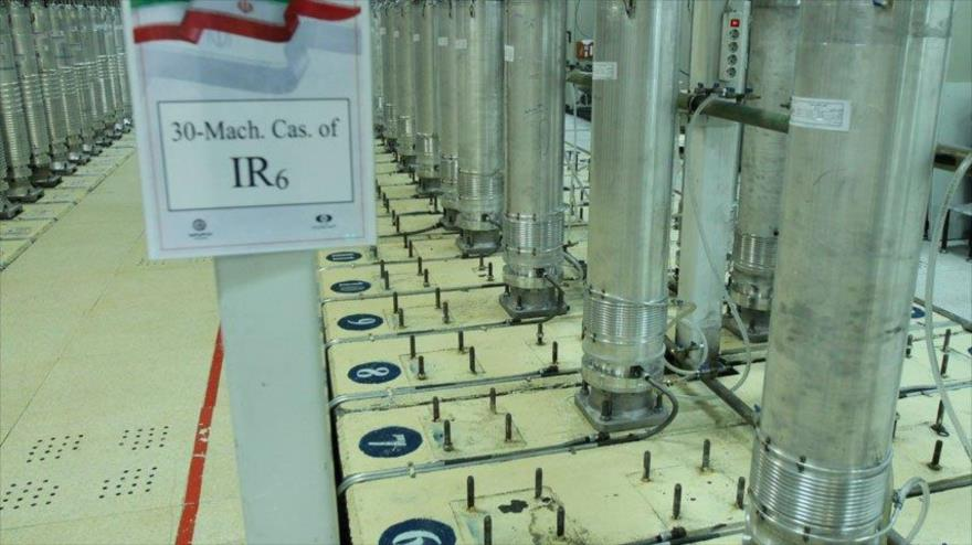 Unas centrifugadoras en una planta nuclear en Irán.