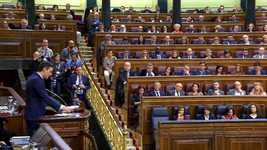 España: gritos e insultos en el debate de investidura de Sánchez