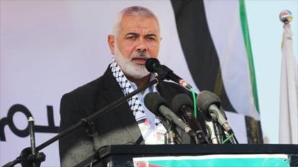 Líder de HAMAS ofrece un discurso en el funeral de Soleimani