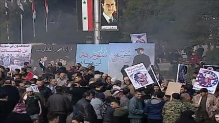 Sirios condenan desde Alepo asesinato del general Soleimani