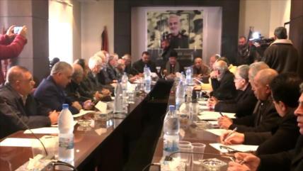 Facciones palestinas en Siria: Soleimani es símbolo de resistencia