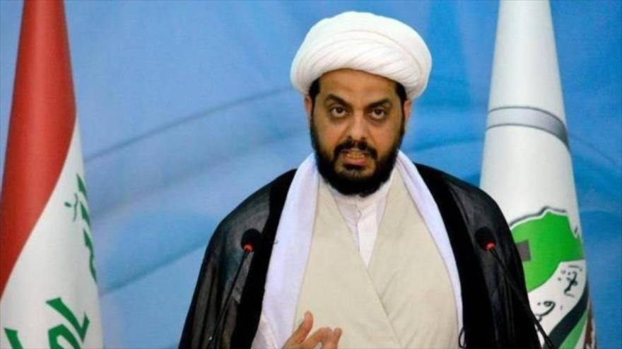 El líder del grupo Asaib Ahl al-Haq, Qais al-Jazali
