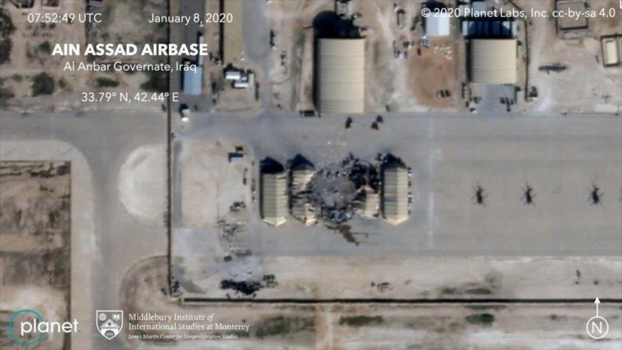 Fotos satelitales revelan daños del ataque iraní a base de EEUU | HISPANTV
