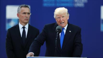 Trump insta a la OTAN a involucrarse más en el oeste de Asia