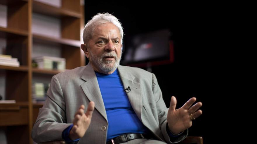 El expresidente de Brasil Luiz Inácio Lula da Silva durante una entrevista con un medio de comunicación.