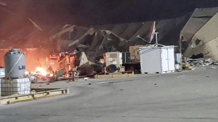 Nuevos vídeos y fotos del interior de base de EEUU dañada por Irán