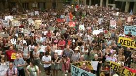 Australianos protestan contra el Gobierno por gestión de incendios