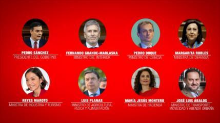 Pedro Sánchez presenta los ministros de su nuevo gabinete