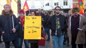 Italianos protestan contra las guerras de la OTAN en Oriente Medio