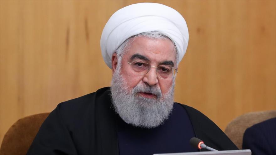 El presidente de Irán, Hasan Rohani, en una reunión de gabinete en Teherán, capital persa, 8 de enero de 2020. (Foto: president.ir)