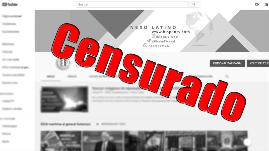 Google elimina cuenta de HispanTV de Youtube.