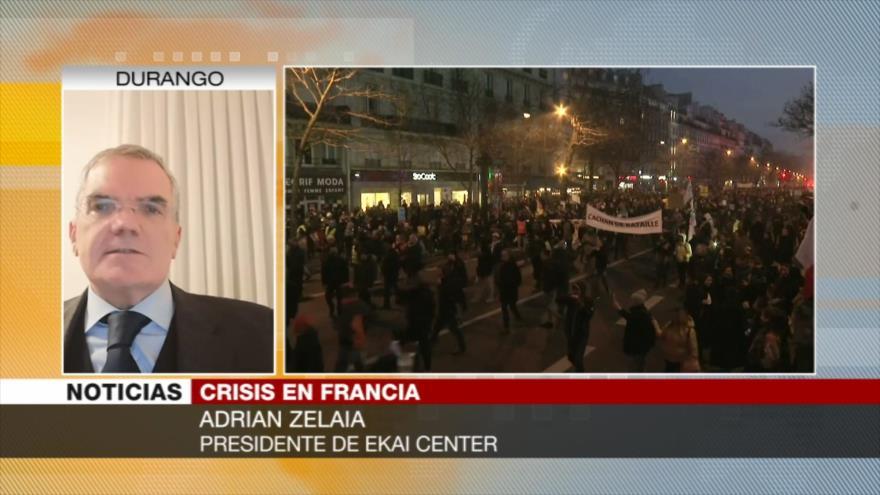 Zelaia: Protestas de Francia derivan de un modelo neoliberal   HISPANTV