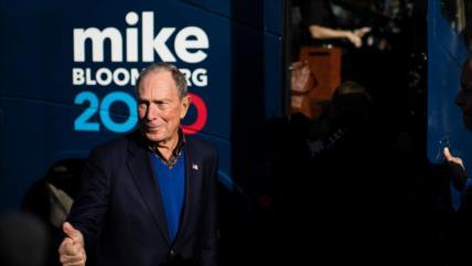 Bloomberg promete gastar toda su fortuna para derrotar a Trump