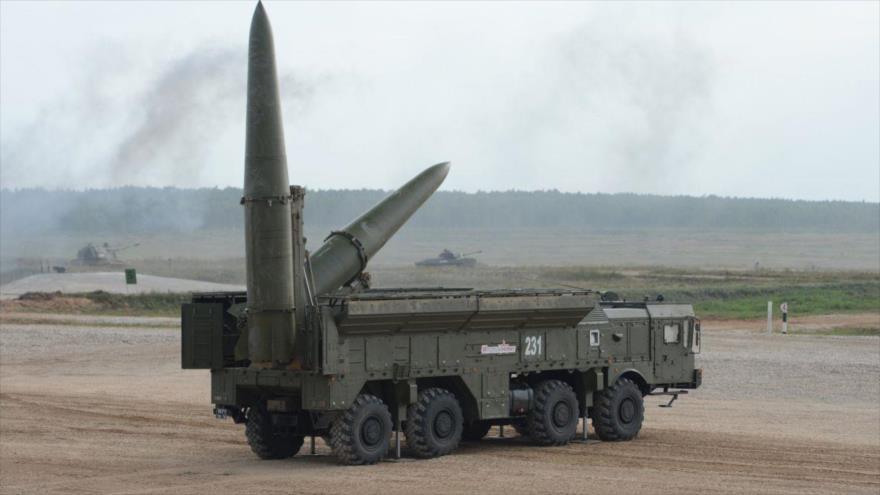 Sistema de misil táctico Iskander-M, de fabricación rusa.