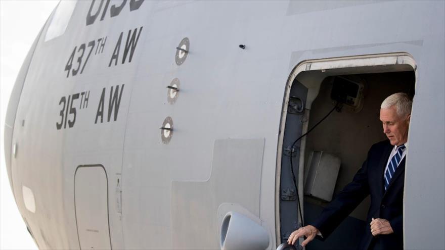 El vicepresidente de Estados Unidos, Mike Pence, en una visita a la base Ain Al-Asad en Irak, 23 de noviembre de 2019. (Foto: AP)