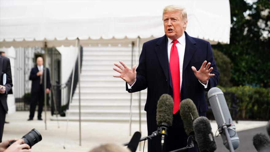 El presidente de EE.UU., Donald Trump, ofrece una rueda de prensa en la Casa Blanca, 13 de enero de 2020. (Foto: AFP)