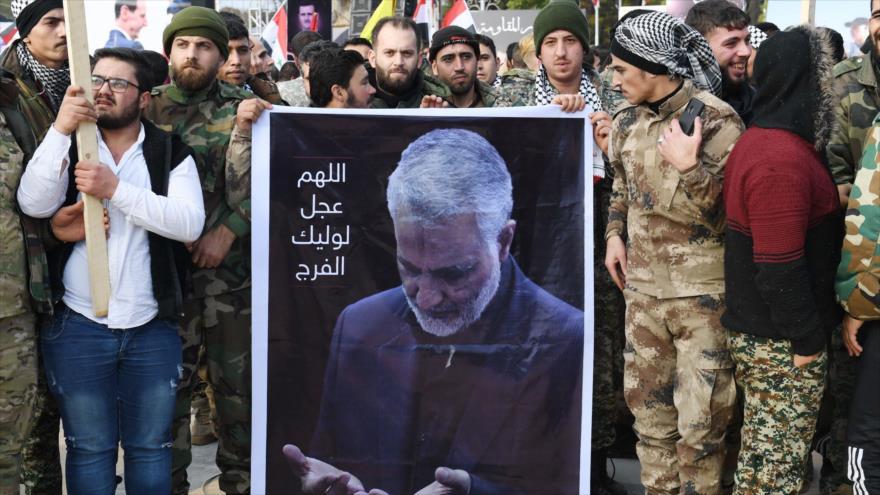 Sirios piden salida de tropas de EEUU tras asesinato de Soleimani