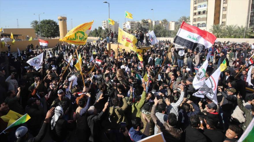 Líderes iraquíes convocan protesta multitudinaria contra EEUU
