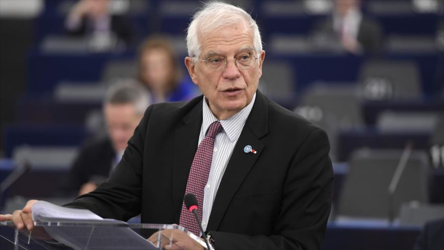 El jefe del Servicio de Acción Exterior de la UE, Josep Borrell, ofrece un discurso ante la Eurocámara, Strasbourg (Francia), 14 de enero de 2020. (Foto: AFP)