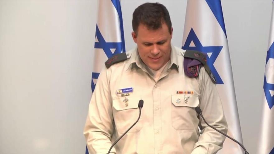 El portavoz del ejército del régimen de Israel, Jonathan Conricus.