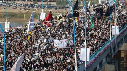 Irán: 25 millones de personas participaron en funeral de Soleimani