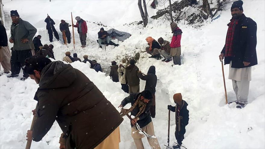 Avalanchas de nieve han dejado al menos 83 muertos en Paquistán