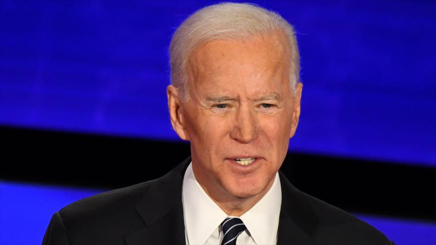 El exvicepresidente de EE.UU. Joe Biden en un acto en Des Moines, capital del estado de Iowa, 14 de enero de 2020. (Foto: AFP)