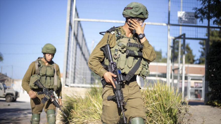 Soldados del ejército israelí en el pueblo de Avivim en la frontera con El Líbano, 2 de septiembre de 2019. (Foto: AP)