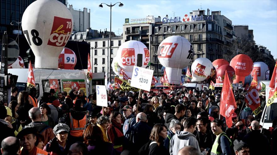 Franceses salen a las calles en una nueva jornada de protestas | HISPANTV