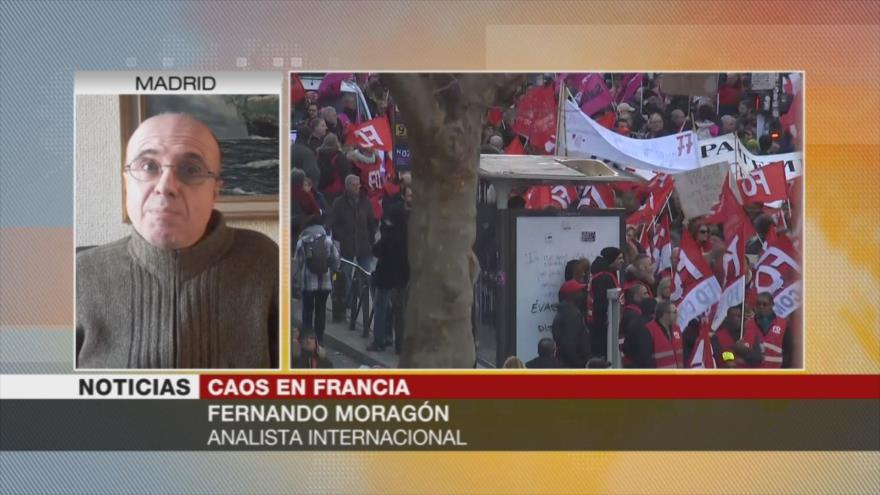 Moragón: Manifestaciones ponen a Macron en difícil situación | HISPANTV