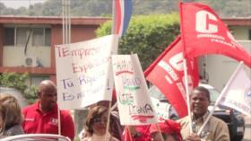 Trabajadores arremeten contra ajuste salarial en Panamá