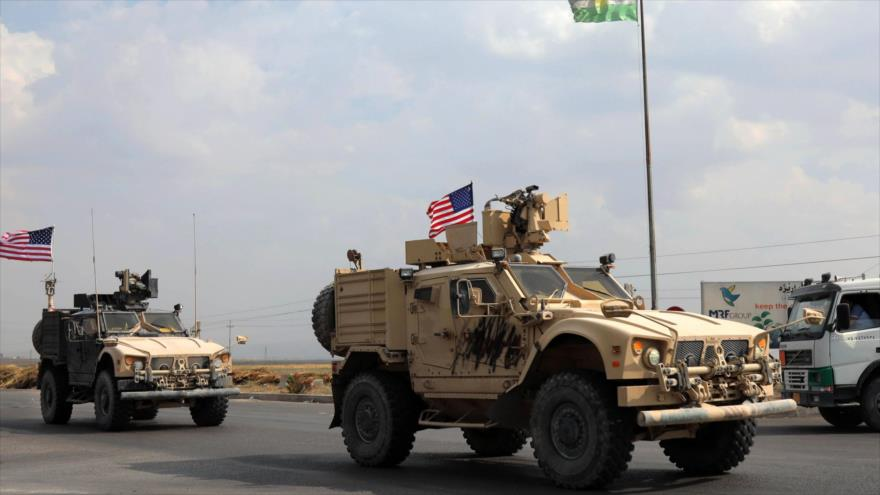 Un convoy estadounidense llega a la región semiautónoma del Kurdistán iraquí, 21 de octubre de 2019.