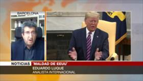 Luque: EEUU recurre a un doble nivel de presión contra Irán